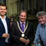 Mr. Ben Howlett with Chairman of BANES Cllr Martin Veal and Mr. David Price